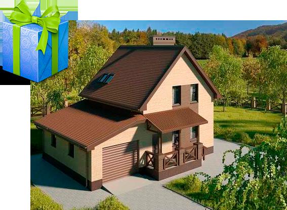 Дом-с-мансардой-и-гаражом