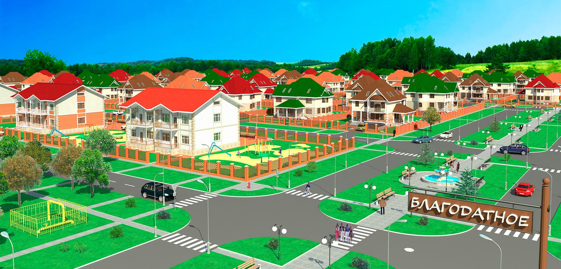 Рисунок застройки участков в поселке